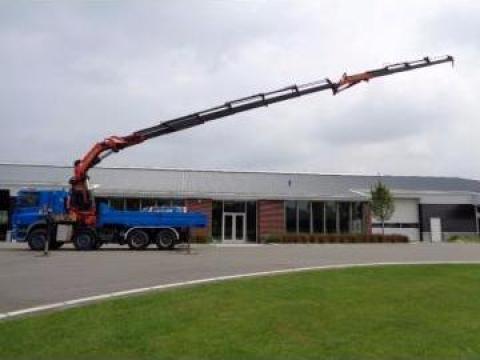 Inchiriere camion cu macara PK 72000, brat 28 m, 22T de la Donlux Construct