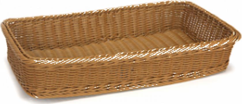 Cos rectangular patiserire Raki 53x31,5xh9cm culoare cafea de la Basarom Com