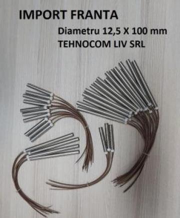 Rezistenta electrica cartus pentru peleti 12,5x100, 600W de la Tehnocom Liv Rezistente Electrice, Etansari Mecanice