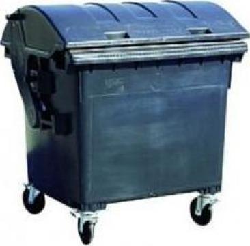 Container 1,1 mc plastic, capac semirotund, negru de la Electrotools