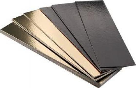Planseta dreapta auriu/negru 15x50cm de la Cristian Food Industry Srl.