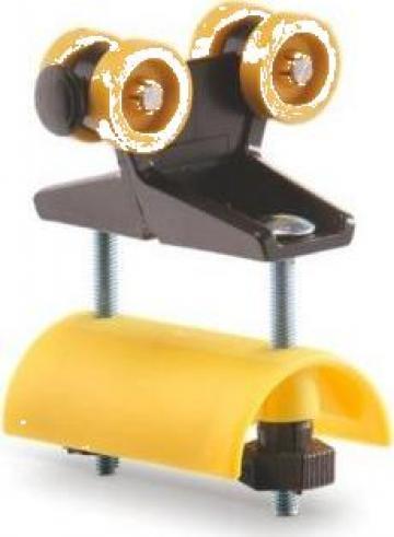 Carucior cablu plat E30-LWF, WLL=8kg, L=80mm