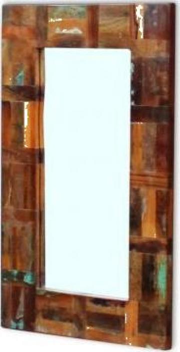 Oglinda din lemn reciclat de esenta tare, 80x50 cm de la Vidaxl