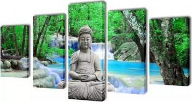 Set tablouri de perete cu Buddha, 200 x 100 cm