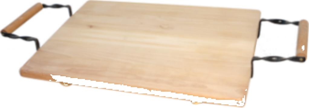 Tava din lemn pentru platouri servire Raki 37x50cm de la Basarom Com