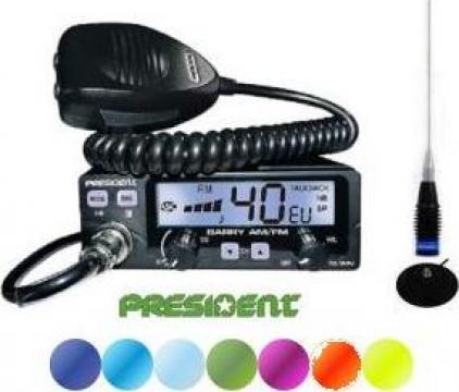 Statie radio CB president Barry ASC 2019 cu antena ML145