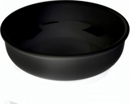 Bol rotund melamina Raki 32x10,2cm negru de la Basarom Com