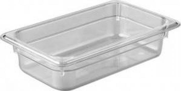 Tava gastronorm policarbonat 1/4-100, 2litri transparent de la Basarom Com