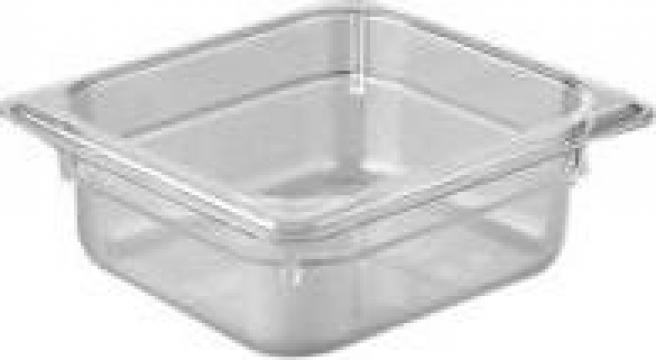 Tava gastronorm policarbonat 1/6-150, 2,2litri transparent de la Basarom Com