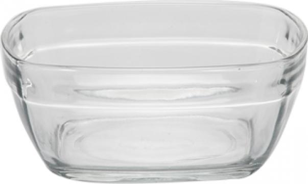 Bol patrat policarbonat 300ml 11x11cm Premium de la Basarom Com