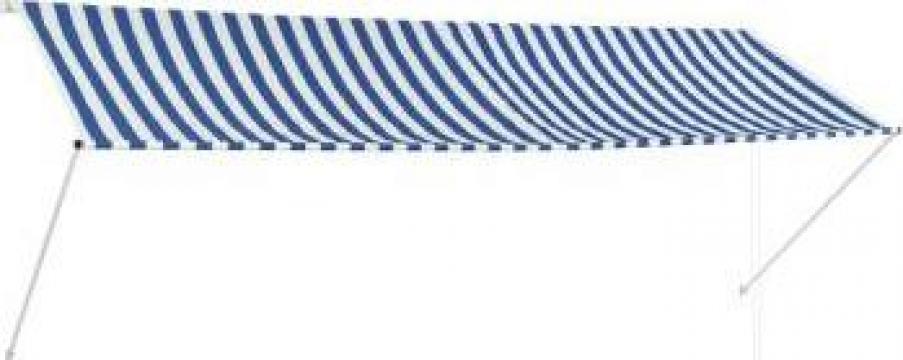 Copertina retractabila, albastru si alb, 350 x 150 cm