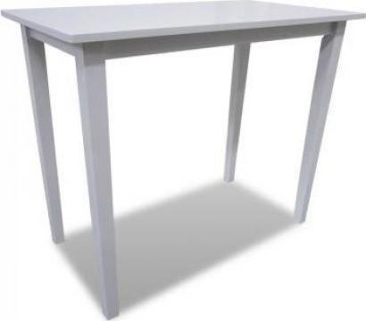 Masa de bar din lemn, alb