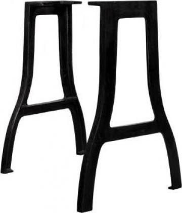 Picioare masa de sufragerie 2 buc. cadru in A fonta