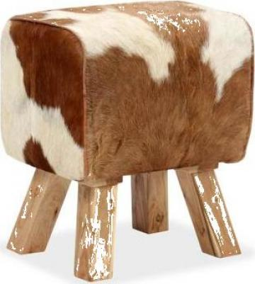Scaun din piele naturala de capra 40x30x45 cm