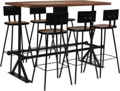 Set de bar, 7 piese, lemn masiv reciclat de la Vidaxl