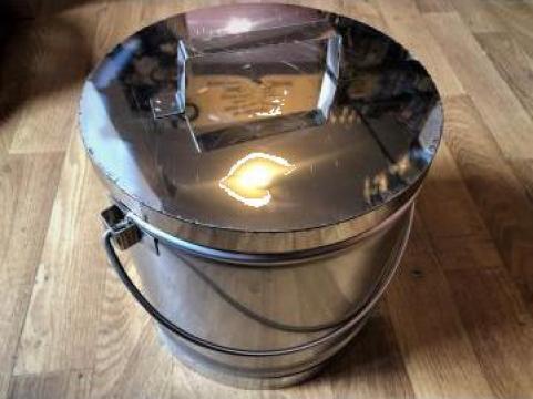 Galeata inox cu capac 10 l de la Baza Tehnica Alfa Srl