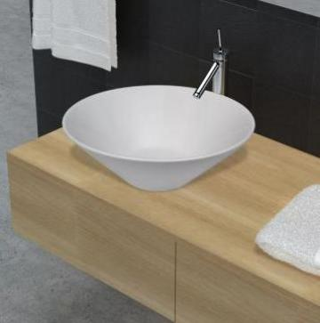 Chiuveta de baie din ceramica, alb