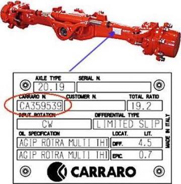 Piese Carraro 122965 - Tractor Ford 6610 de la Instalatii Si Echipamente Srl