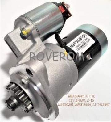 Demaror Mitsubishi L3E, 12V, 1,6kW, Z=15
