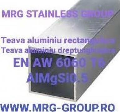 Teava aluminiu patrata 40x40x2mm rectangulara inox alama Al
