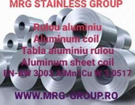 Rulou aluminiu 0.75x1000 EN-AW 3003 1050A tabla, inox, cupru