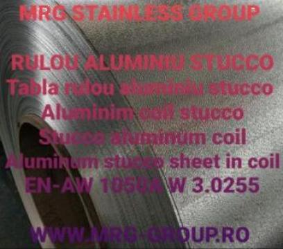 Rulou tabla aluminiu stucco 1x1000mm EN-AW 1050A