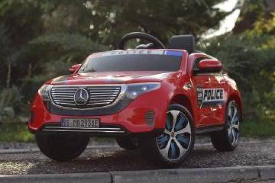 Masinuta electrica pentru copii Mercedes EQC 400 90W Police de la SSP Kinderauto & Beauty Srl