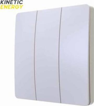 Intrerupator wireless triplu Kinetic Energy de la Konstructhor All SRL