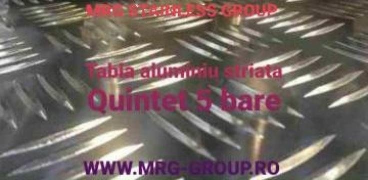 Tabla aluminiu striata Quintett 5x1000x2000mm antiderapanta