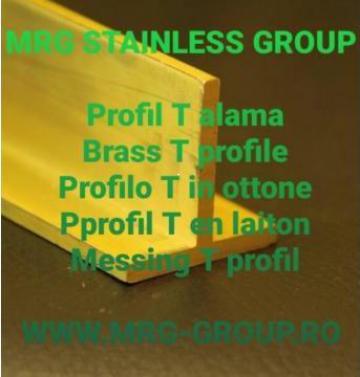 Profil T alama, profil extrudat alama Brass