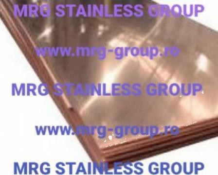 Tabla cupru 0.4x1000x2000mm confectii metalice Cu-DHP 99.9%