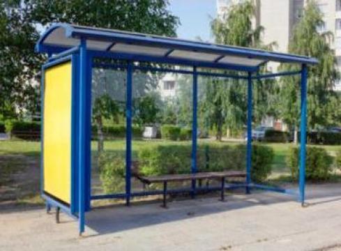Statie de autobuz cu panou info de la Miracons Proiect Srl