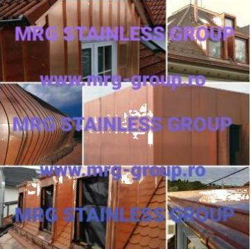Tabla cupru acoperis, fatade, tigla de la MRG Stainless Group Srl