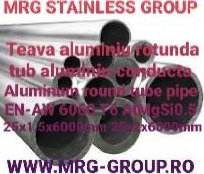 Teava aluminiu rotunda 25mm conducta de la MRG Stainless Group Srl