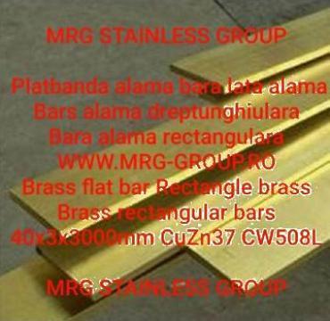 Platbanda alama 40x3mm, bara alama dreptunghiulara, aluminiu
