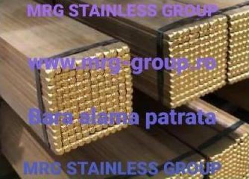 Bara alama patrata 9x9mm patrat alama CuZn39Pb3 CW614N MS58 de la MRG Stainless Group Srl