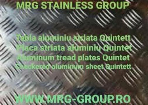 Tabla aluminiu striata Quintett 4x1500x3000mm antialunecare de la MRG Stainless Group Srl