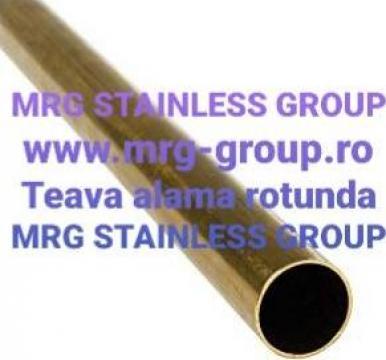 Teava alama rotunda 50x1.5mm CuZn37 CW508L MS58