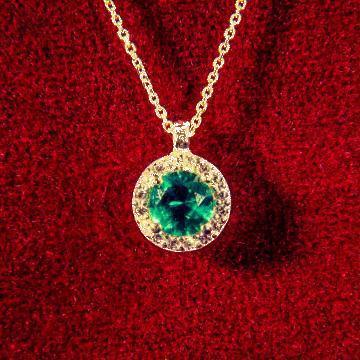 Inel din aur cu smarald sintetic de la Dixi Bijou Srl