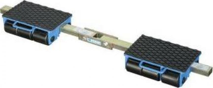 Carucior pentru marfa cu role 9 t - platforma 0654/09f de la Proma Machinery Srl.