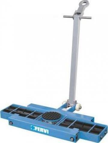 Carucior pentru marfa cu role 9 t - platforma 0654/09l de la Proma Machinery Srl.