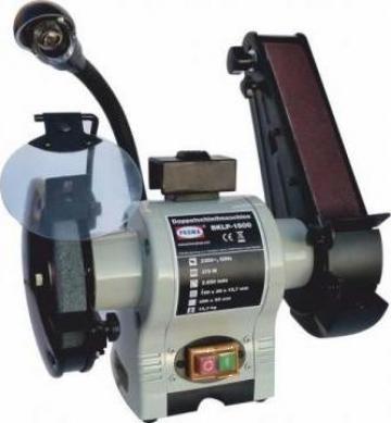 Polizor combinat cu perie si banda 150 mm BKLP-1500