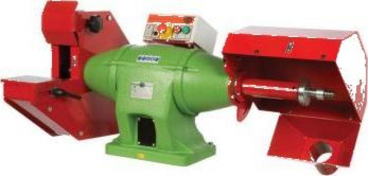 Polizor de banc combinat cu perie si disc 400 mm CA-8 de la Proma Machinery Srl.