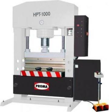 Presa hidraulica universala HPT-1000 de la Proma Machinery Srl.