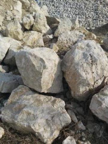 Decoratiune gradina bolovani calcar 50-80 cm de la Trans Udroiu Srl