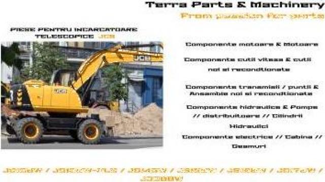 Piese excavatoare pe roti JCB de la Terra Parts & Machinery Srl