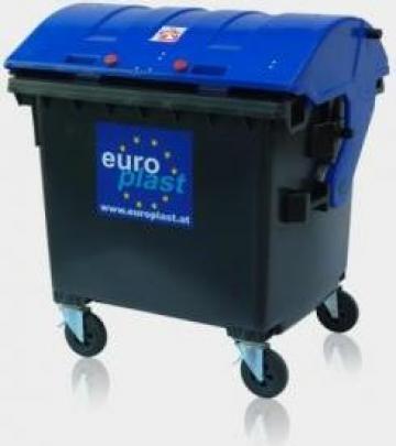 Container 1100 litri capac rotund de la Europlast Romania Srl