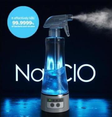 Dispozitiv cu pulverizator pentru apa, dezinfectant de la Lili Com International Srl.