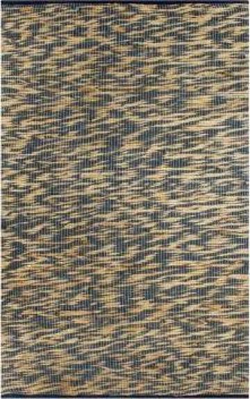 Covor manual, albastru si natural, 160x230 cm, iuta de la Vidaxl