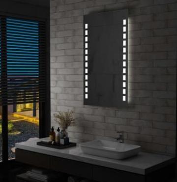 Oglinda cu LED de perete de baie, 60 x 100 cm